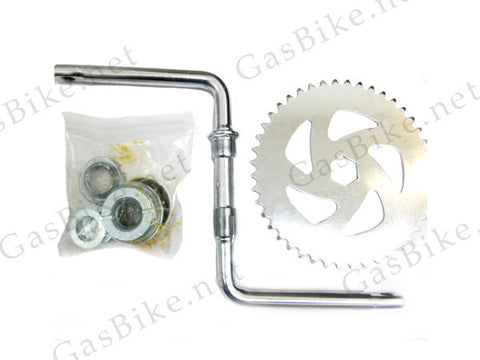 Wide Pedal Crank Kit, One-Piece Crank