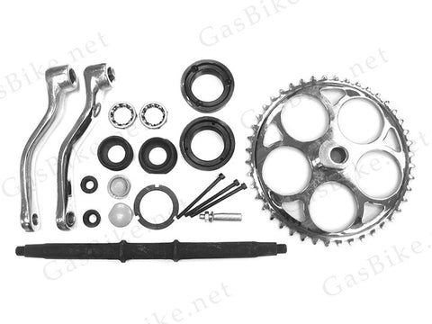 Wide Pedal Crank Kit with Conversion Bracket