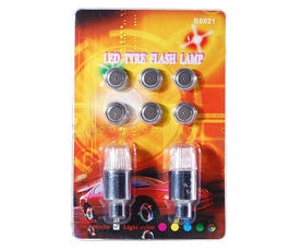 Flashing RGB LED Wheel Lights, Motion Activated, For Bikes and Cars, 2-Pack (Free Shipping)