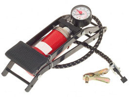 Compact Foot Pump with Pressure Gauge for Bicycle, Motorcycle or Electric Bike