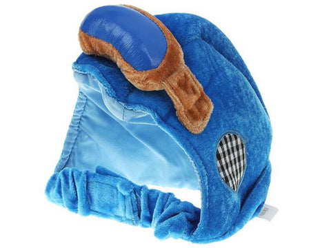 Cute Pet Dog Bicycle Cloth Helmet Hat