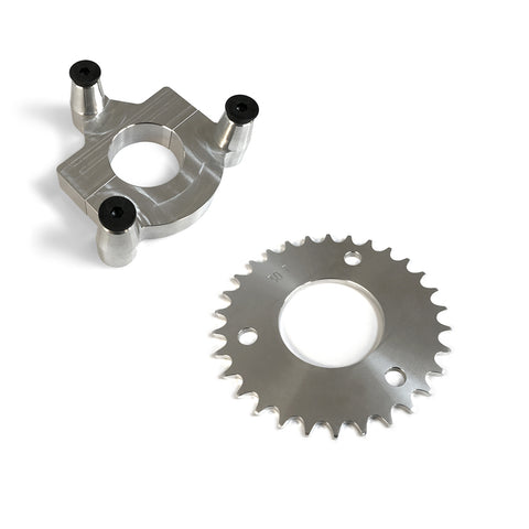 30 Tooth CNC Sprocket & Adapter Assembly 80CC Gas Motorized Bicycle