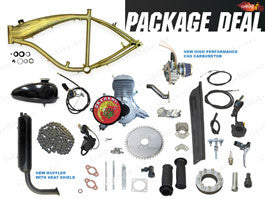 GRUBEE 2012 SkyHawk GT5 66cc/80cc Slant Head Bike Motor Kit (Standard Finish) With Bike Frame