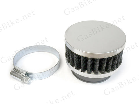 Round Air Filter High Performance - Silver