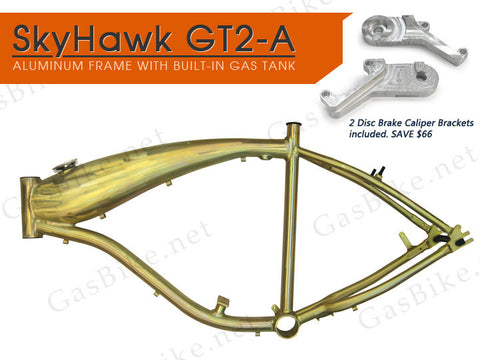 SkyHawk GT2-A Aluminum Frame with Disc Brake Caliper Brackets 80CC Gas Motorized
