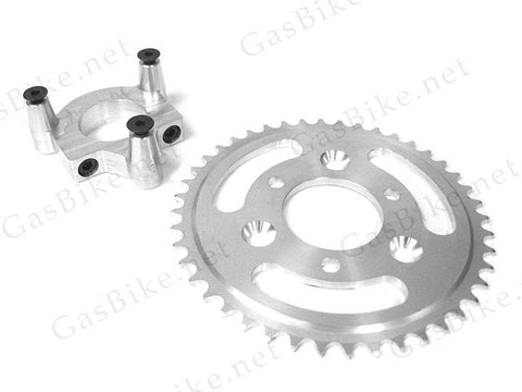 44 Tooth CNC Sprocket & Adapter Assembly 80CC Gas Motorized Bicycle