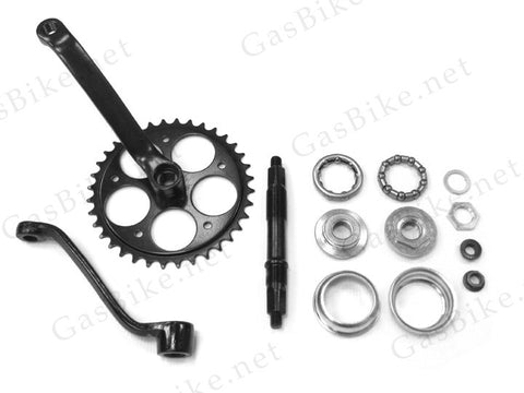 Wide Pedal Crank Kit - 2pc 48cc, 66cc, 80cc Gas Motorized Bicycle