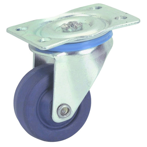 1-5/8 in. Rubber Light Duty Swivel Caster