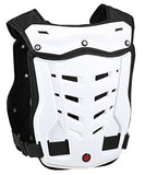 CRAZY AL'S SCOYCO AM05 Body Armor Professional Motorcycle Motocross Racing Protective Body Armour Armor Jacket Guard Motobike Bicycle Cycling Riding Motocross Gear (M, White)