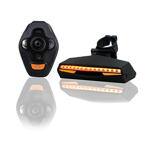 Pawaca USB Rechargeable LED Bike Tail Light Wireless Remote Control Waterproof Ultra Bright Bicycle Rear Light Warning Light for Cycling Safety