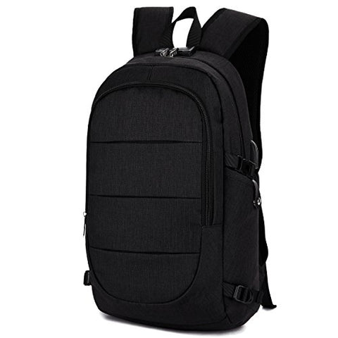 Anti Theft Business waterproof Laptop Backpack with USB Charging Port and Headphone interface Fits UNDER 15.6 inch Laptop by AMBOR,for College Student Work Travel Men & Women.Black