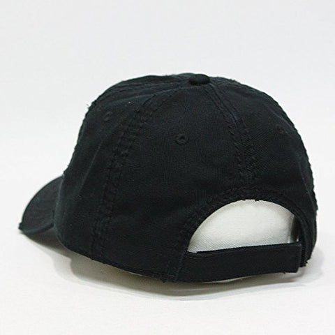 ... Vintage Year Plain Washed Cotton Twill Distressed With Heavy Stitching Low  Profile Adjustable Baseball Cap 28b21c06cea7