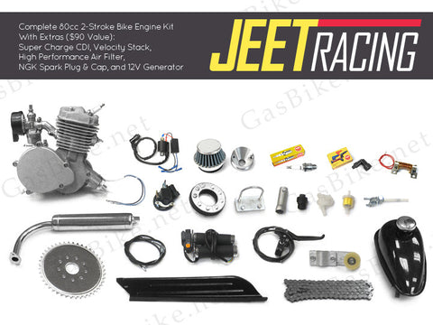 Jeet Racing 80cc Bicycle Engine Kit Gas Motorized Bicycle