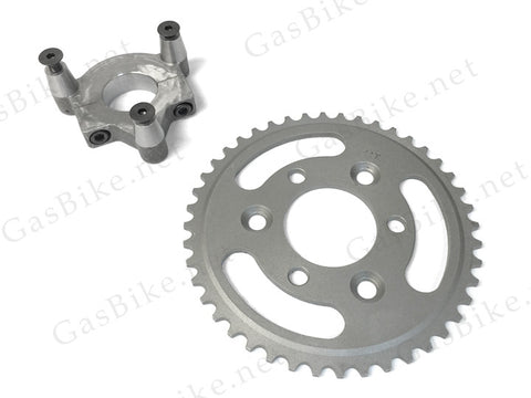 44 Tooth Steel Sprocket & Adapter Assembly 80CC Gas Motorized Bicycle