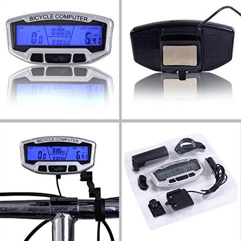 Safstar LCD Bicycle Bike Cycling Computer Odometer Speedometer Velometer With Backlight