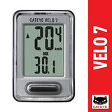 CatEye - Velo 7 Bike Computer with Odometer and Speedometer