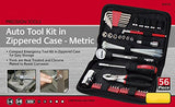 Apollo Tools DT9775 56 Piece Metric Auto Tool Kit in Compact Zippered Case with Most Useful Mechanics Tools