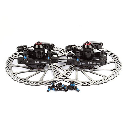 Disc Brake Sets, InsReve NV-5 G3/HS1 Mountain Bicycle Bike Mechanical Disc Brake Kit Front and Rear 160mm Caliper Rotor BB5 BB7 BB-5 BB-7
