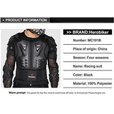 HEROBIKER MC1011 Black Motorcycle Body Armor Motocross Armour Motorcycle Jackets+ Gears Short Pants+protective Motocycle Knee Pad