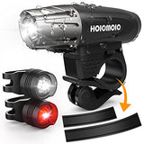 Bike Light Set Hoicmoic Bicycle Headlight USB Rechargeable Powerful 300 Lumens IP65 with 2 Tail Light in White and Red Light for Kids Men Women Safety Raod Cycling