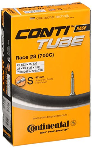 Continental 42mm Presta Valve Tube, Black, 700 x 20-25cc