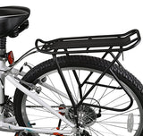 "Ibera Bike Rack – Bicycle Touring Carrier with Fender Board, Frame-Mounted for Heavier Top & Side Loads, Height Adjustable for 26""-29"" Frames"
