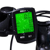 Bike Computer Speedometer Wireless Waterproof Bicycle Odometer Cycle Computer Multi-Function Large LCD Back-light Display