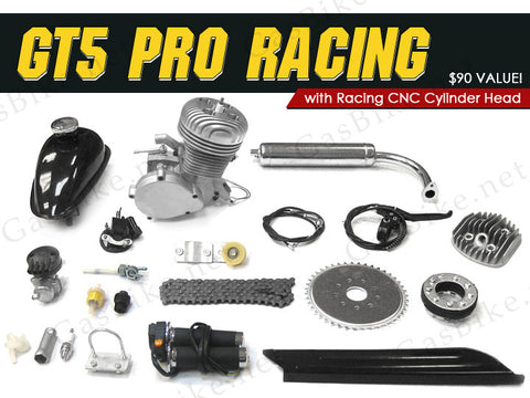 GT5 Pro Racing 66cc/80cc Angle Fire Slant Head Bike Motor Kit Gas Motorized
