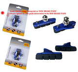Pioneeryao Sport Road Bike Cycle Bicycle Brake Pads Block 2 Pairs