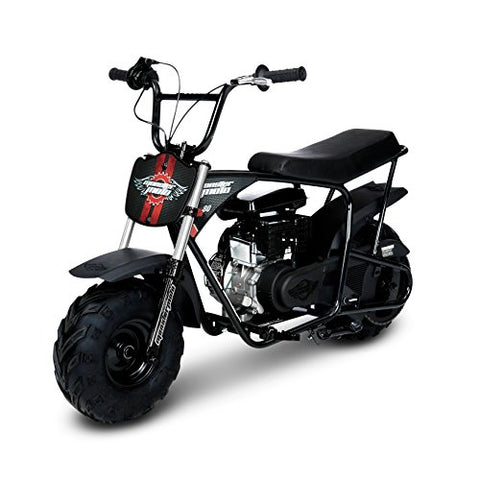 Monster Moto MM-B80-BRS Black/Red Gas Mini Bike with Front Suspension (80CC/ 2.5HP Classic)