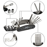 WOTOW 16 in 1 Multi-Function Bike Bicycle Cycling Mechanic Repair Tool Kit With 3 pcs Tire Pry Bars Rods