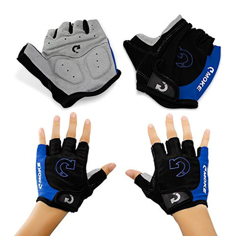 GEARONIC TM New Fashion Cycling Bike Bicycle Motorcycle Shockproof Foam Padded Outdoor Sports Half Finger Short Gloves Riding Gloves Working Gloves