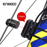 Enkeeo Wired Bike Computer Bicycle Speedometer Bike Odometer with Backlit Display, Current/AVS/MAX Speed Tracking, Auto ON/OFF, Stopwatch Multifunction for Cyling
