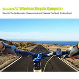 Suaoki Wireless 2.4GHz Transmission Bike Cycling Computer with Cadence Sensor Bicycle Speedometer Odometer Track Calories User A/B Backlight Water Resistant etc 22 Function