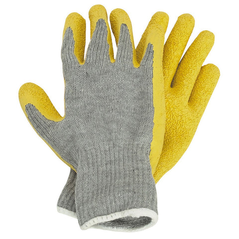 Latex Coated Work Gloves Large