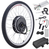 "Pinty 26"" Front or Rear Wheel Ebike Hub Motor Conversion Kit with Dual Mode Controller, 36V 500W or 48V 1000W"