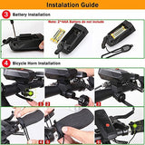 DAWAY A14 Loud Electric Bike Horn - 5 Modes Sound 110 DB Bicycle Cycling Handlebar Ring Alarm Bells with Free Screwdriver