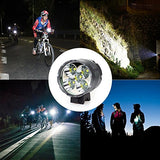 HZTech Bicycle Headlight, 8400 Lumens 7 LED Bike Light, Waterproof MTB Road Bike Front Light Headlamp with 6000mAh Rechargeable Battery Pack, AC Charger for Mountain Bikes, Road Bicycle