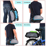 Lixada Bicycle Rack Bag 13L Waterproof Cycling Bike Rear Seat Cargo Bag MTB Road Bike Rack Carrier Trunk Bag Pannier Handbag