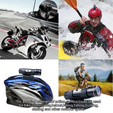 Wosports Bike Motorcycle Helmet Camera Waterproof Full HD 1080P with Motorcycle Bike Helmet Mount Kit,Mini Sports Action Video Camera DVR AVI 5MP Camcorder 118 Degree Wide Angle Lens