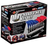 Performance Tool W80277 T-Handle Combination Hex Key Set, 10-Piece