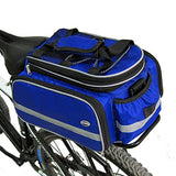 Tancendes Bike Rear Bag thicker rack straps Lengthened Shoulder Strap waterproof Nylon Bicycle Seat Trunk Bag with Raincoat