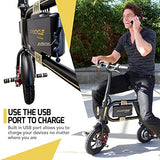 SWAGTRON SwagCycle E-Bike – Folding Electric Bicycle with 10 Mile Range, Collapsible Frame, and Handlebar Display