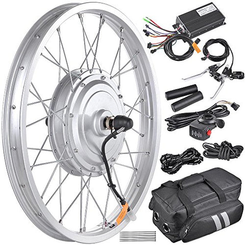 "AW 16.5"" Electric Bicycle Front Wheel Frame Kit For 20"" 36V 750W 1.95""-2.5"" Tire E-Bike"