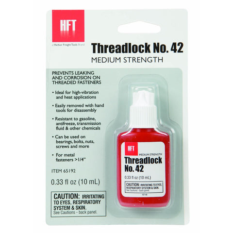 Threadlocker, No. 42, 10 mL Medium Strength