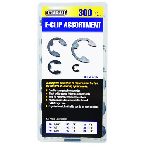 300 Piece E-Clip Assortment
