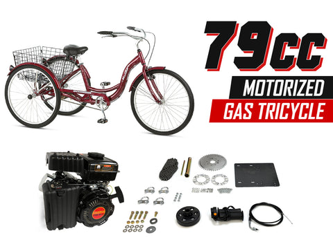 79cc Motorized Gas Tricycle