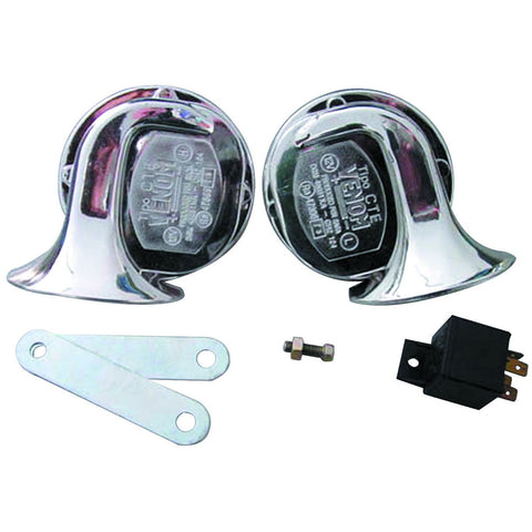 2 Piece 12V Electric Horn Set