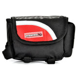 Outdoor Bike Bicycle Upper Tube Bag - Red + Black (FSLV)