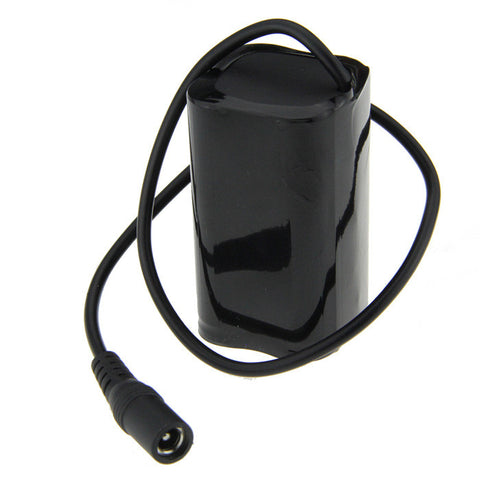 Rechargeable 8.4V 4400mAh 18650 Battery Pack for Bike Light - Black (FSLV)